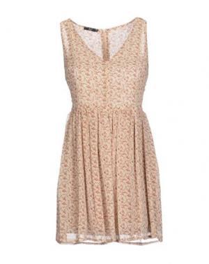 Короткое платье H²O LUXURY. Цвет: песочный