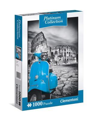 Пазл Платиновая коллекция. Колизей. 1000 элементов. Clementoni. Цвет: синий, серый