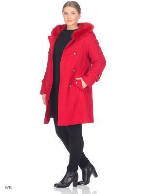 Пальто Fart Favorita. Цвет: красный