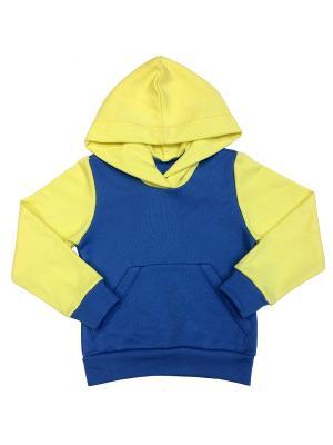 Толстовка Батик. Цвет: синий, светло-желтый