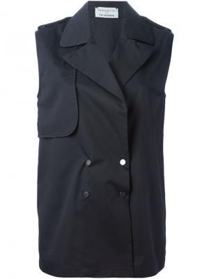 Двубортная жилетка  x Tom Greyhound Wanda Nylon. Цвет: синий