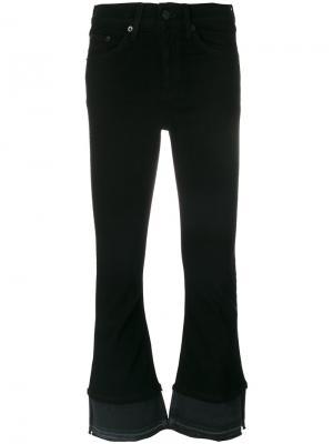 Укороченные брюки клеш Rag & Bone. Цвет: чёрный