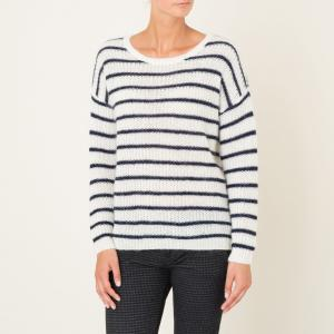 Пуловер THEBES HARRIS WILSON. Цвет: экрю/ темно-синий