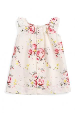 Платье с цветочным принтом AMANDE Bonpoint. Цвет: розовый