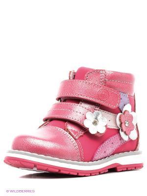 Ботинки Flamingo. Цвет: малиновый