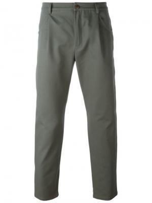 Укороченные брюки A.P.C.. Цвет: зелёный