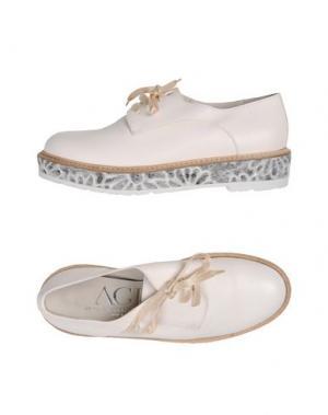 Обувь на шнурках AGL ATTILIO GIUSTI LEOMBRUNI. Цвет: белый