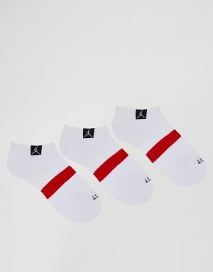 Jordan 3 пары носков Nike Drifit SX5243-100. Цвет: белый