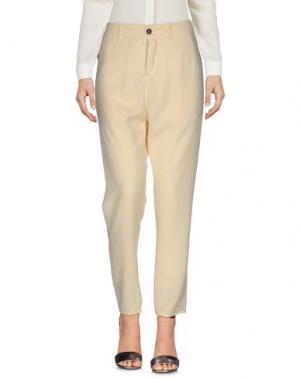Повседневные брюки NOVEMB3R. Цвет: светло-желтый