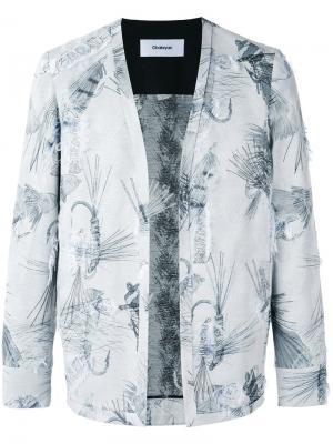 Пиджак без застежки и воротника Chalayan. Цвет: серый