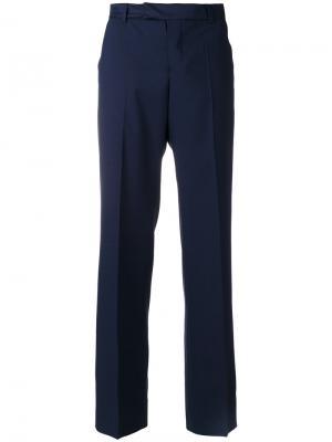 Прямые брюки Maison Kitsuné. Цвет: синий