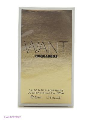 Парфюмерная вода Want EDP 50 ML NATURAL SPRAY + VIAL WILD 1,5 Dsquared. Цвет: прозрачный
