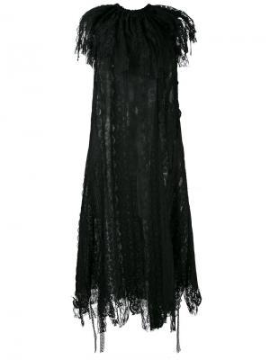 Кружевное платье Sara Lanzi. Цвет: чёрный