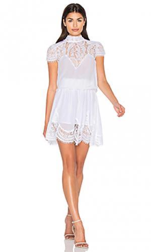 Платье nela RAVN. Цвет: белый