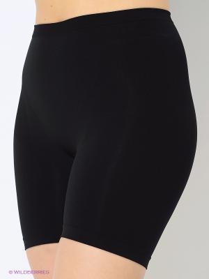 Трусы-шорты с моделирующим эффектом Intimidea. Цвет: черный