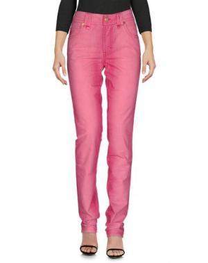 Джинсовые брюки GALLIANO. Цвет: розовый