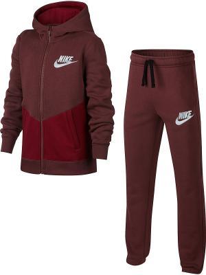 Костюм B NSW TRK SUIT BF CORE Nike. Цвет: красный