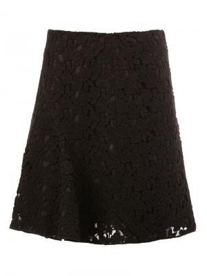 Кружевная юбка со складками Giambattista Valli. Цвет: чёрный