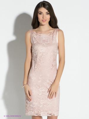 Платье Vera Mont. Цвет: бледно-розовый