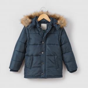 Стеганая куртка со съемными рукавами и  капюшоном 3-12 лет La Redoute Collections. Цвет: бордовый