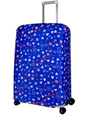 Чехол для чемодана  Traveler L/XL Coverway. Цвет: синий
