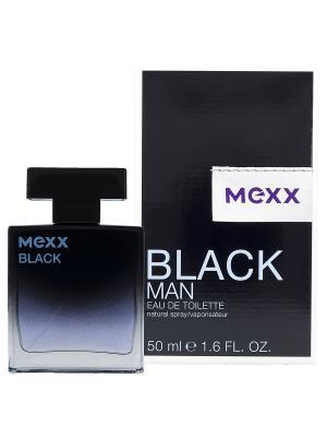 Туалетная вода mexx black man 50 мл. Цвет: прозрачный