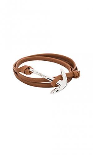 Браслет anchor Miansai. Цвет: коричневый