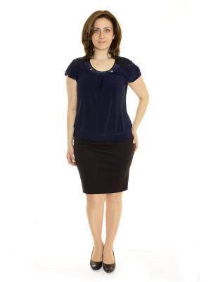 Блузка Vanrica Fashion. Цвет: темно-синий