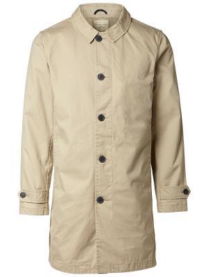 Пальто SELECTED. Цвет: светло-коричневый