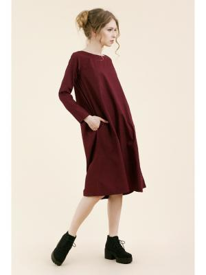 Платье №5 бордо (KW3) (S (40-42)) MONOROOM