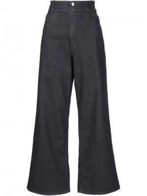 Расклешенные брюки Rosetta Getty. Цвет: синий