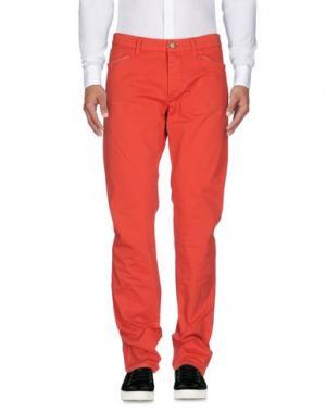 Повседневные брюки D-21. Цвет: красный