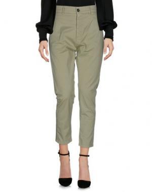 Повседневные брюки NOVEMB3R. Цвет: светло-зеленый