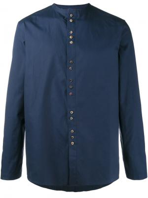 Рубашка без воротника By Walid. Цвет: синий