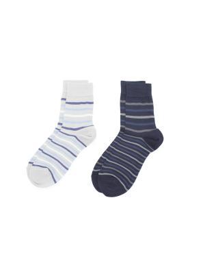 Носки, 2 пары Cascatto. Цвет: синий, серый, голубой