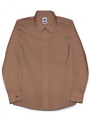 Рубашка классическая INTERA. Цвет: коричневый