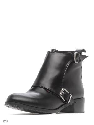 Ботинки ESTELLA. Цвет: черный, темно-красный