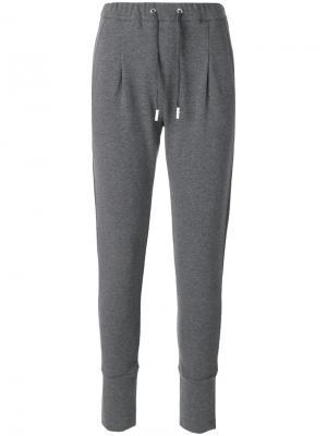 Track pant trousers Eleventy. Цвет: серый