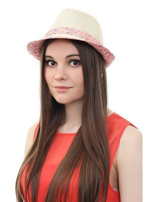 Шляпа Gusachi. Цвет: бежевый, розовый