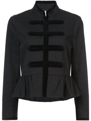 Пиджак в стиле милитари Kate Spade. Цвет: чёрный