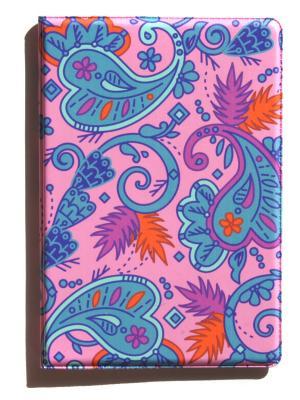 Обложка для паспорта Lola. Цвет: синий, розовый