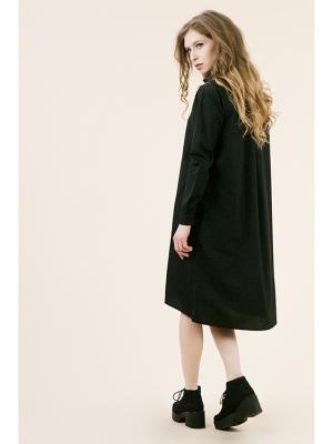 Платье-рубашка черное (KW3) (One-size (42-46)) MONOROOM