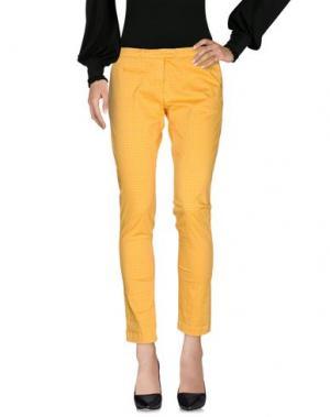 Повседневные брюки SOALLURE. Цвет: желтый