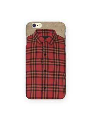 Чехол для IPhone 6 Рубашечка Mitya Veselkov. Цвет: красный