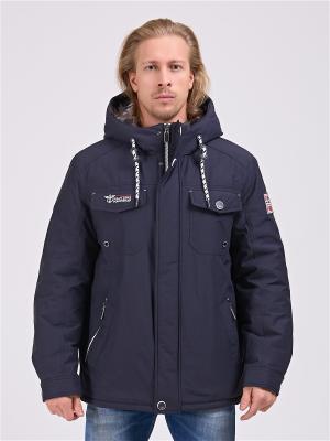 Куртка FERGO. Цвет: темно-синий