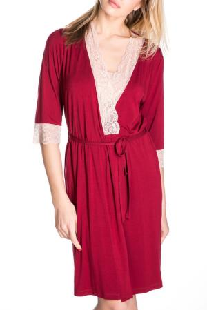 Халат Rose&Petal Homewear. Цвет: красный