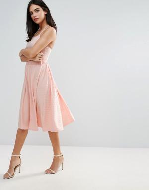 Unique 21 Трапециевидная юбка. Цвет: розовый