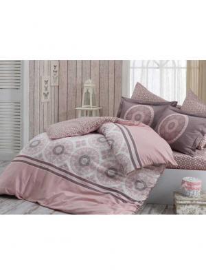 Кпб 2 сп. (Евро) сатин SILVANA, розовый HOBBY HOME COLLECTION. Цвет: розовый