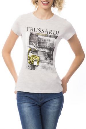 Футболка Trussardi. Цвет: серый