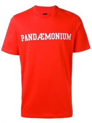 Футболка с принтом Pandaemonium Oamc. Цвет: красный